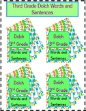 Dolch Third Grade Words and Sentences Practice Bundle