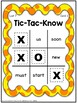 Dolch Tic Tac Know Sight Word Game