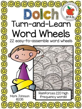 Dolch Turn-and-Learn Word Wheels:  22 Easy-to-Assemble Word Wheels