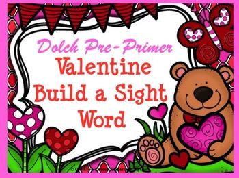 Dolch Valentine Build a Sight Word--Pre-Primer