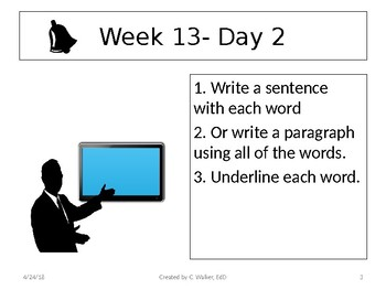 Dolch Vocabulary Grade 6 Weeks 13-16 Bellwork