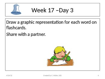 Dolch Vocabulary Grade 6 Weeks 17-20 Bellwork
