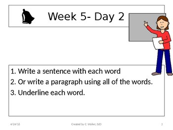 Dolch Vocabulary Grade 6 Weeks 5-8