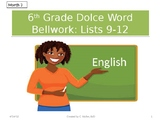 Dolch Vocabulary Grade 6 Weeks 9-12 Bellwork