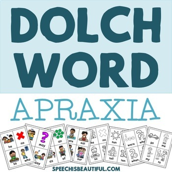 Dolch Word Apraxia Cards