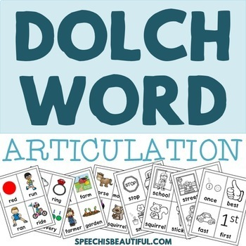 Dolch Word Articulation Cards
