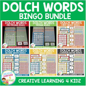 Dolch Words Bingo Board Bundle