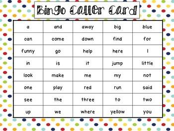 Dolch Word Bingo Bundle