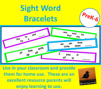 Dolch Word Bracelets - 220 Word Collection
