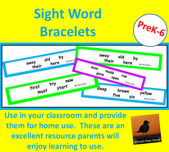 Dolch Word Bracelets - Second 100 Words Collection