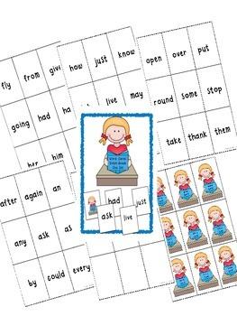 Dolch Word Card Game ~ Mega Bundle ~ Pre-Kindergarten to Grade 3