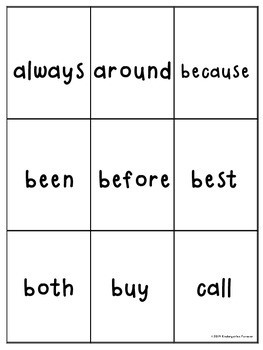 Dolch Word Card Game ~ Set 4 ~ Grade Two Sight Words