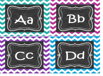 Dolch Word Cards Chevron Background