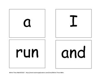 Dolch Sight Word Cards: Pre-Primer, Primer, 1st Grade Lists