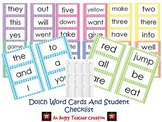 Dolch Word Cards With Student Checklist