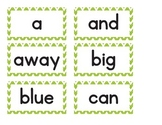 Dolch Word Cards for Word Wall PrePrimer - 2nd