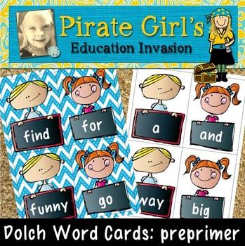 Dolch Word Cards (preprimer)