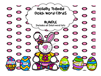 Dolch Word Easter Themed Games - BUNDLE!