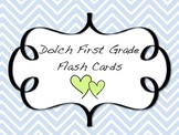 Dolch Word First Grade Flash Cards