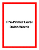 Dolch Word Flash Cards (Color-coded complete set)