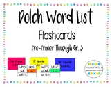 Dolch Word Flash Cards - Pre-Primer to Grade 3!