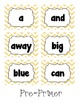 Chevron Dolch Word Flashcards/Word Wall