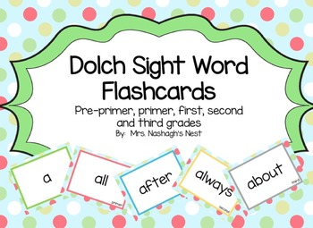 Dolch Word Flashcards - All 220