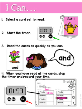 Dolch Word Fluency:  Time Me!  Spring