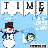 Dolch Word Fluency:  Time Me!  Winter
