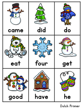Sight Word Fluency Winter