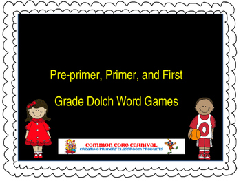 Dolch Word Games: Pre-primer through First Grade