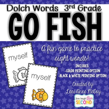 Dolch Word Go Fish! (3rd Grade)