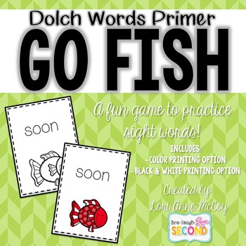 Dolch Word Go Fish! (Primer)