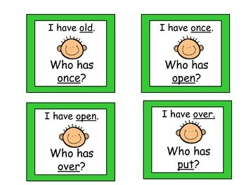 Dolch Word I Have, Who Has ( First Grade 2 of 2)