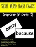 Dolch Word Index Card template