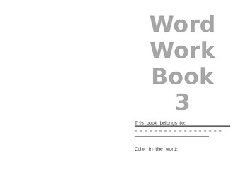 Dolch Word List 3 Booklet