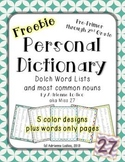 Dolch Word List Dictionary Pre Primer, 1st & 2nd grade + m