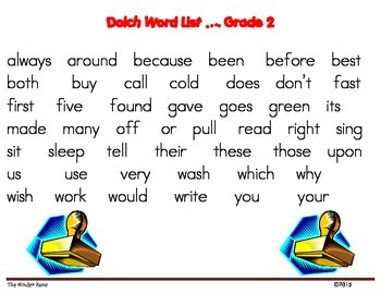 Dolch Word List * Grade 2 **Word Work Stamp and Write