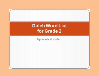 Dolch Word List - PowerPoint