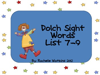 Dolch Word Lists 7-9 Center
