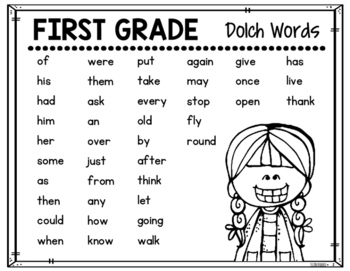 Dolch Word Lists {FREEBIE}