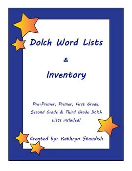 Dolch Word Lists & Inventory