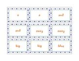 Dolch Word Memory Game - Preprimer List