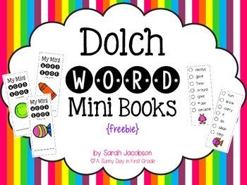 Dolch Word Mini Books {freebie!}