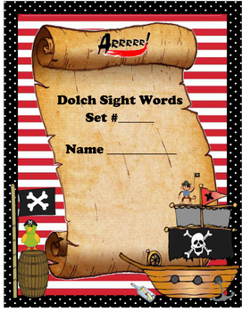 Dolch Word Pirate Unit - All 220 Sight Words
