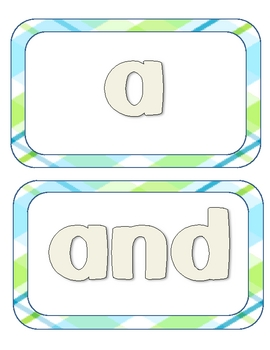 Dolch Word Play Dough Mats Pre-Primer