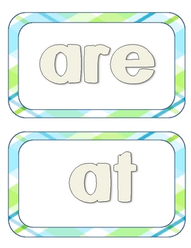 Dolch Word Play Dough Mats Primer