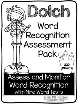 Dolch Word Recognition Assessment Pack