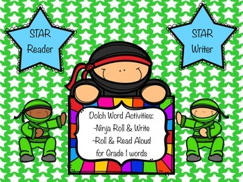 Dolch Word Roll and Write for Grade 1 words