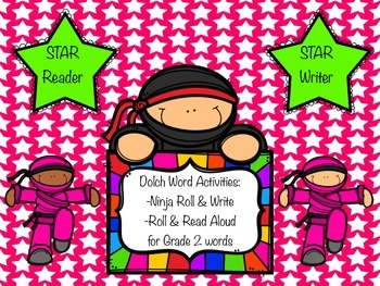Dolch Word Roll and Write for Grade 2 words